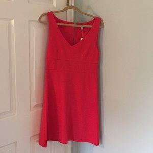 Jcrew red pink dress NWT size 6